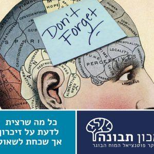 """התנדבות במחקר לשיפור הזיכרון של מכון """"תבונה"""""""